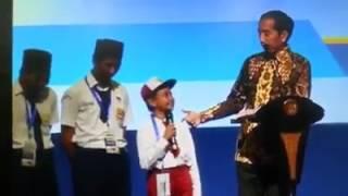 Video lucu anak SD waktu ditanya sama pak Presiden Jokowi tentang nama-nama ikan