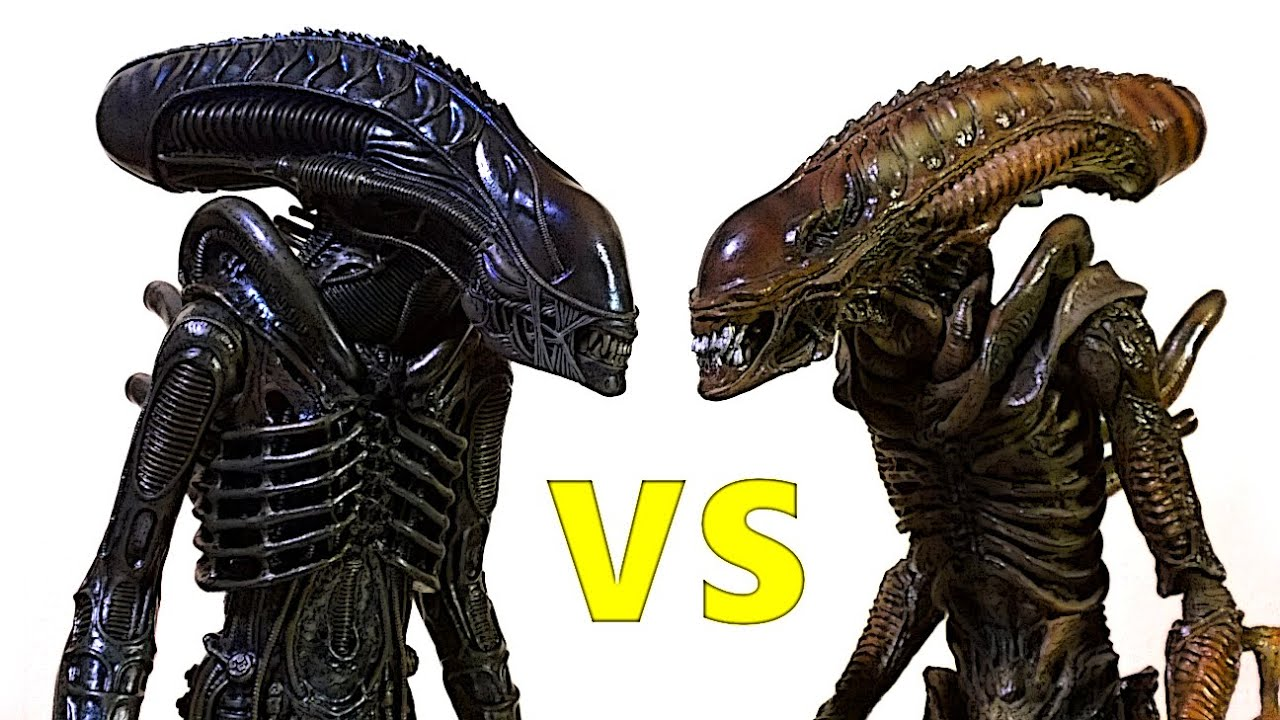 osw.zone Comparison video between the new and old Hot toys Alien warrior from the classic...