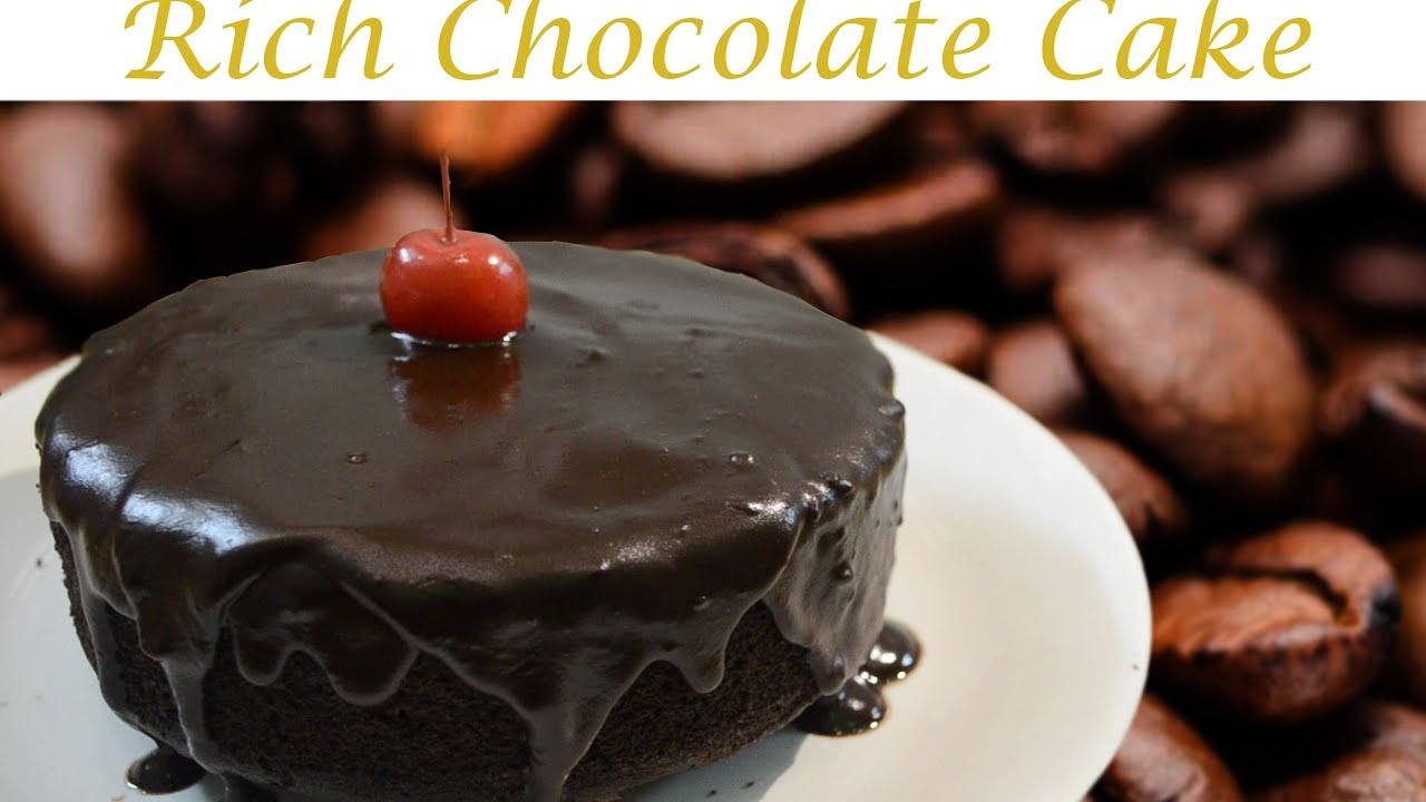 How To Make RICH CHOCoLATE CAKE In Home