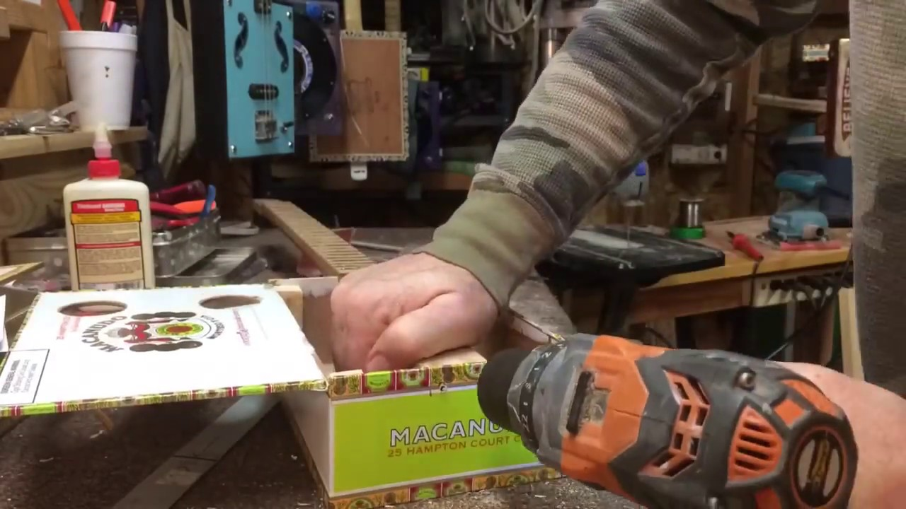 Building A Cigar Box Guitar From Beginning To End Youtube Circuit Board On Vintage