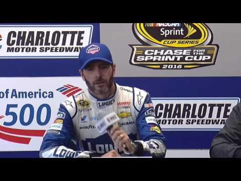 NASCAR Media interview w/ Jimmie Johnson, winner at Charlotte, Chad & Mr. Hendrick - LTR TV Show