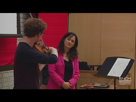 Masterclass (viola) at the Royal Northern College of Music