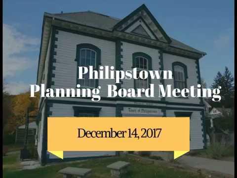 Philipstown Planning Board Meeting December 14, 2017