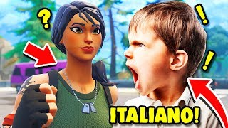 I FIND ITALIAN TODDLER ON PLAYGROUND, ACCUSES ME OF HACK!! Fortnite ITA trolls