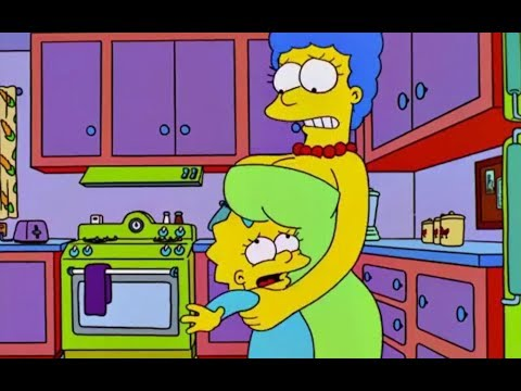 The Simpsons. Marge's two big problems. HD