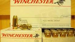 45 Auto Winchester 185 Grain FMJ Ammo - USA45A at SGAmmo.com