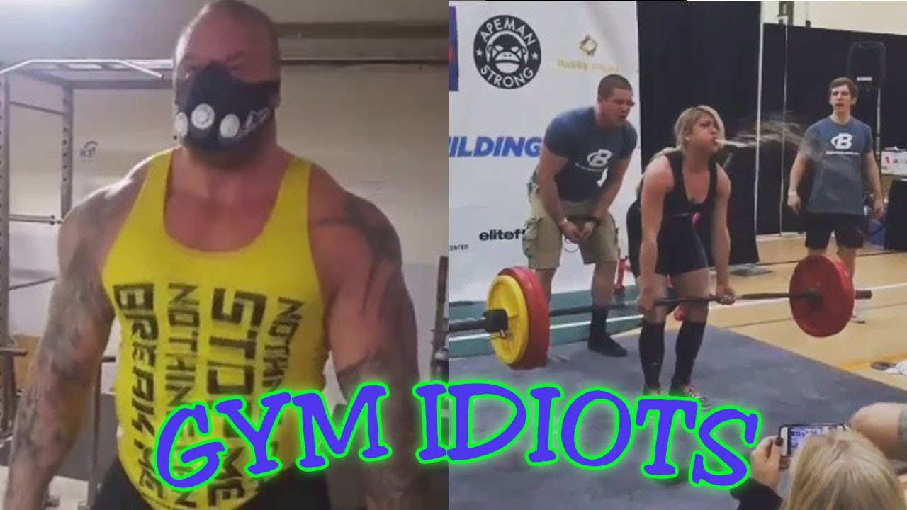 Gym Idiots  The Mountain's Altitude Mask Deadlifts And A Girl's Projectile  Vomit Pr  Youtube