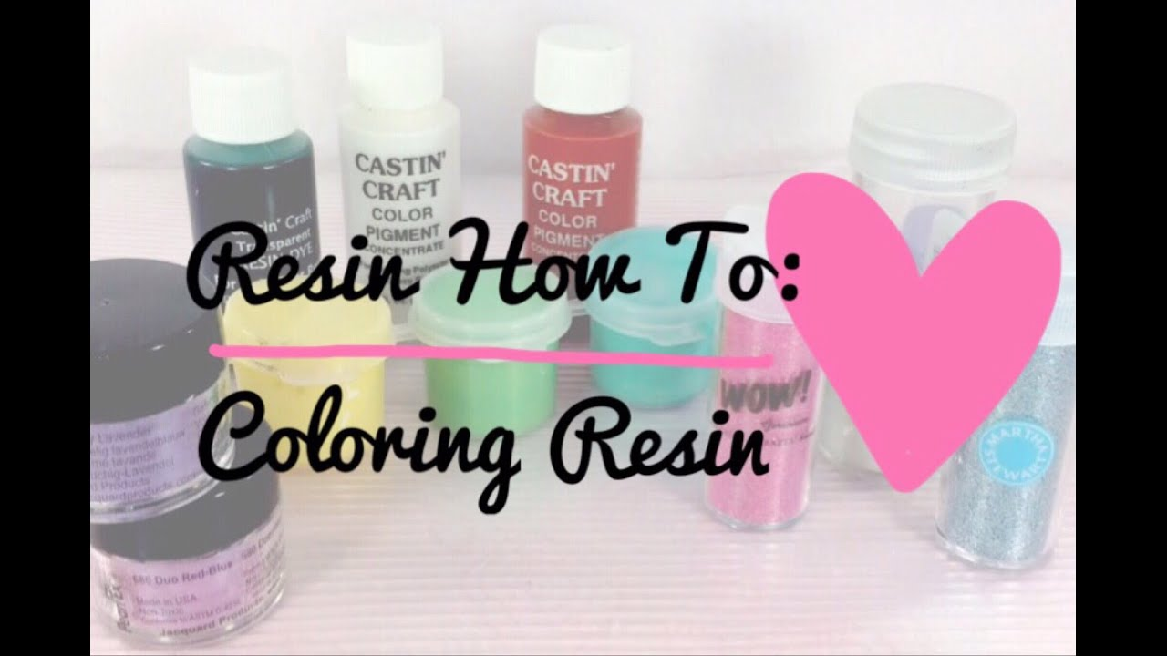 Resin How To: Coloring Resin (4 Methods) - YouTube