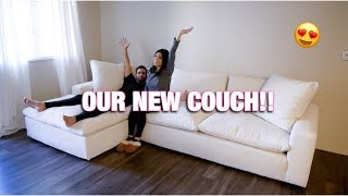 WE BOUGHT A COUCH! | LIVING SPACES UTOPIA SECTIONAL