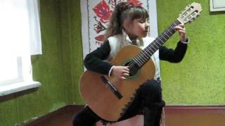 M.Oginski - Polonaise guitar 8 year old(М.Огинский Полонез