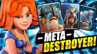 NEW #1 DECK TO MAKE META USERS CRY IN CLASH ROYALE!! META DESTROYER!! 😱