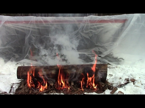 Easy Portable Survival Shelter For Extreme Cold