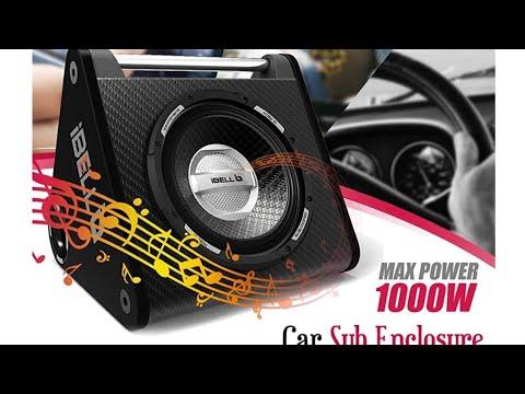 "ibell 10"" Car Subwoofer & 4channel V12 Amplifier Clips"