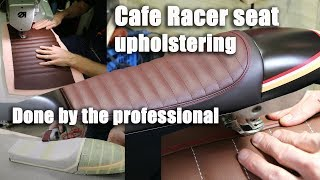 Making a cafe racer seat done by the professional