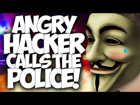 "COD BO2: ANGRY HACKER CALLS THE POLICE!! SWATTING FAIL!! ""HACKER TROLLING"""