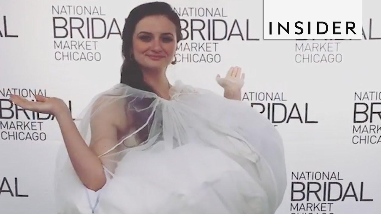 3b54bd323df95 Dress Slip Helps Brides Use The Bathroom - YouTube