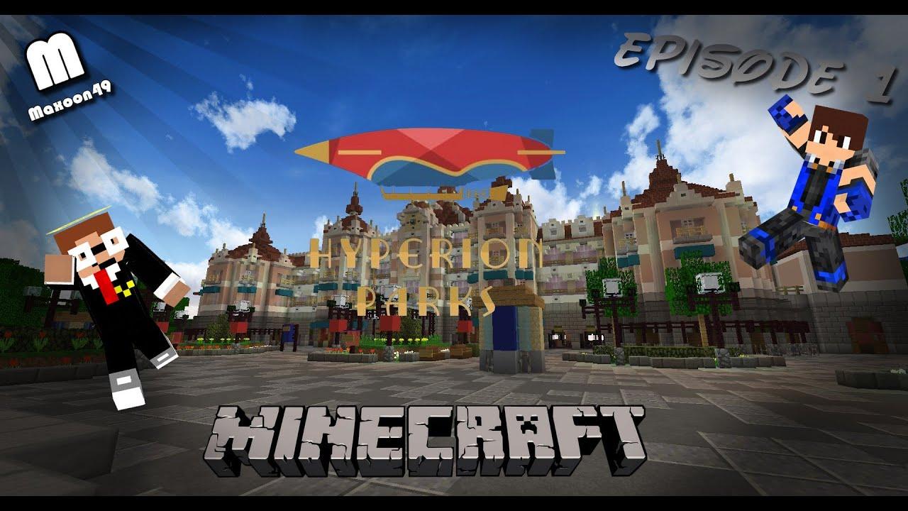 Minecraft Visite Du Parc Disneyland Paris Hyperion