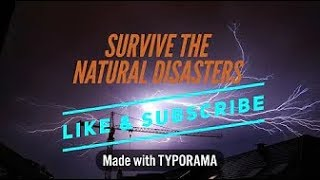 Roblox - Playing Survive the Natural Disasters ONCE AGAIN