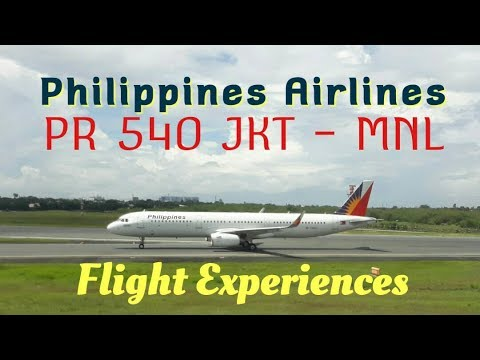 Philippine Airlines PR 540 Jakarta - Manila | Airbus A321-200 Economy Class Flight Experience