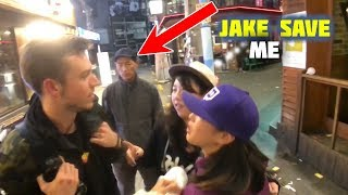 JAKE saves a girl from a creepy guy following her | Jake meets his fans