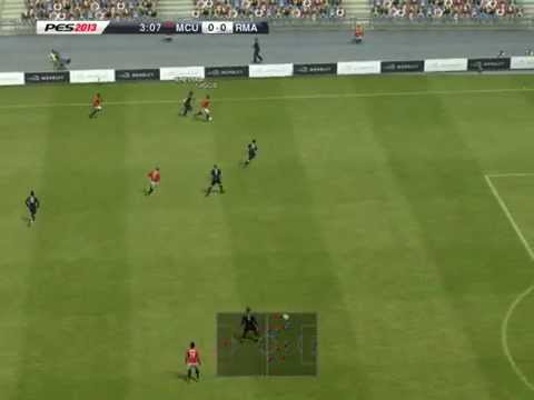 PES 2013 Manchester united (computer) vs Real madrid (computer)