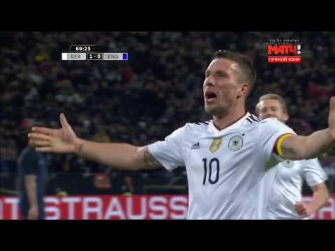 Lukas Podolski Last Incredible Goal - Germany vs England 1-0 - Friendly 22/03/2017