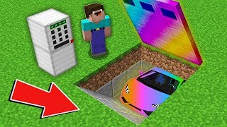 Minecraft NOOB vs PRO: HOW NOOB OPENED LOCKED RAINBOW GARAGE WITH SUPER CAR Challenge 100% trolling