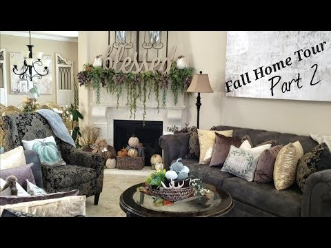 Fall Home Tour 2018 | Part 2 Dining Room/Living Room/Kitchen
