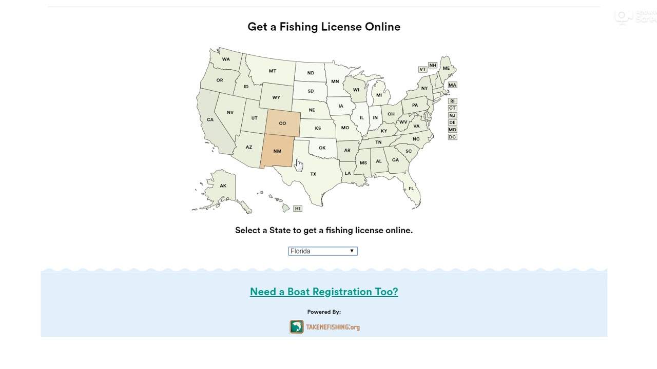 New Fishing License and Boat Registration Widget Demo