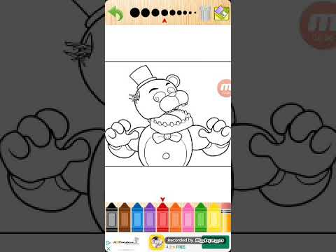 how to draw bloody Freddy fnaf coloring book