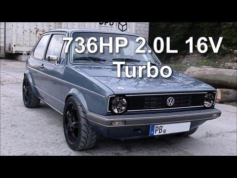 VW Golf MK1 736HP 2.0L 16V Turbo street race