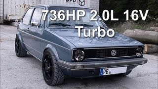 VW Golf MK1 736HP 2.0L 16V Turbo street race
