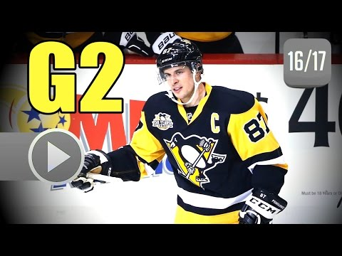 Columbus Blue Jackets vs Pittsburgh Penguins. 2017 NHL Playoffs. Round 1. Game 2. 04.14.2017 (HD)