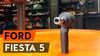 Kā nomainīt stūres šķērsstiepņa uzgali FORD FIESTA 5 (MK6) [AUTODOC VIDEOPAMĀCĪBA]