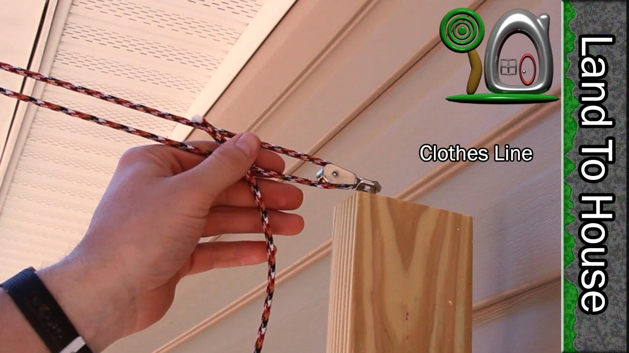 Install A Clothes Line