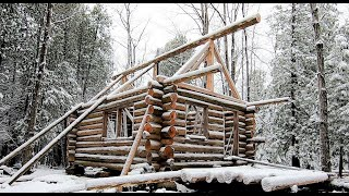 Father & Son Build their Log Cabin- Ep 12- Log Cabin on a Budget