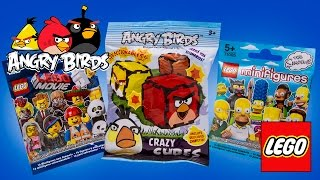 Angry Birds and Lego Movie Blind Bags Surprise opening Bolsas Sorpresa