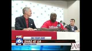 FOX 6 news coverage of Shaq's visit with LessThanUThink
