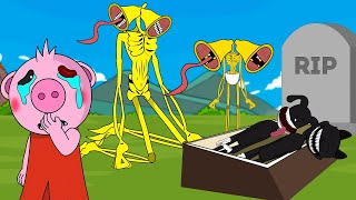 Siren Head Gold , Piggy, Rip Cartoon Cat and Cartoon Dog   Roblox Piggy Animation  GV Studio