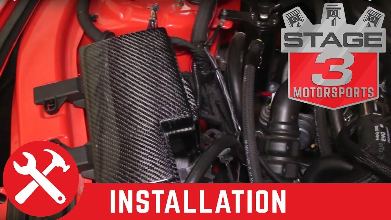 2015 2016 mustang trufiber carbon fiber fuse box cover install [ 1280 x 720 Pixel ]