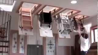 Чердачная лестница OMAN Mini Stallux(Чердачная лестница Oman Mini, Stallux в действии., 2014-03-10T13:27:05.000Z)