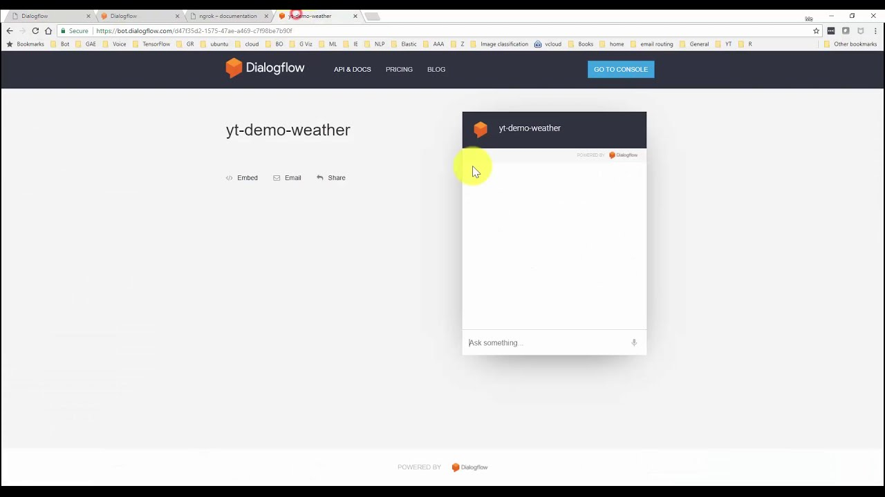 Dialogflow Tutorial - Fulfillment Using A Local Webhook With Ngrok  Naresh  Ganatra 11:18 HD