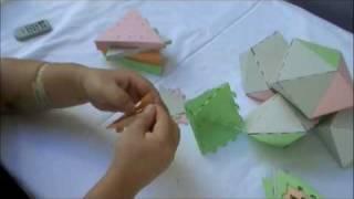 デルタ多面体 - 16面体(Polyhedron Card)