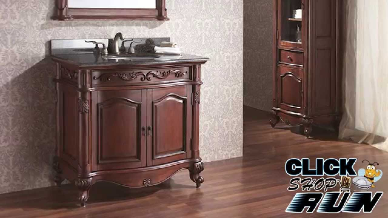 Avanity Provence Bathroom Vanity In Antique Cherry Video Review Clicknrun