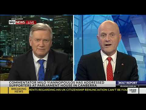 Milo recap with Andrew Bolt