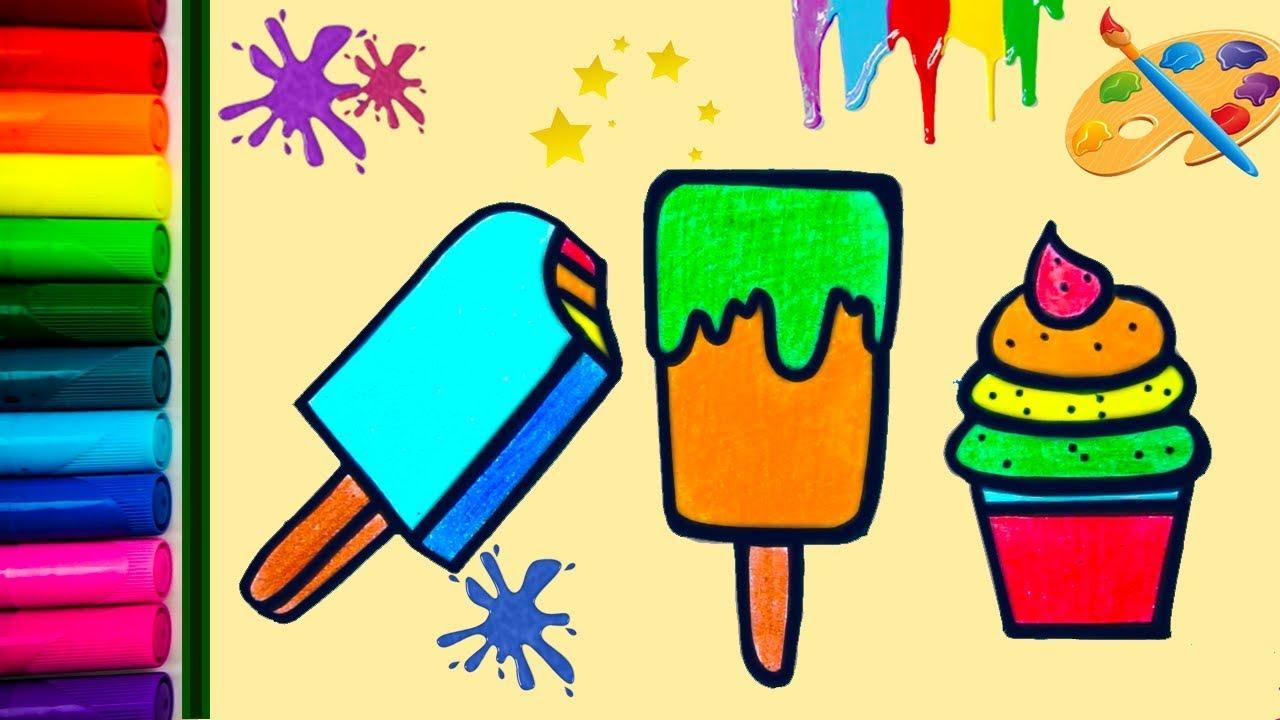 Kleurplaten Voor Kinderen Kleuters En Peuters.Hoe Teken Je Een Schattig Ijsje Kleurplaten Voor Kinderen Tekenen En Kleuren Leren