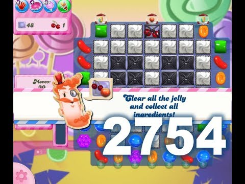 Candy Crush Saga Level 2754 (3 stars, No boosters)