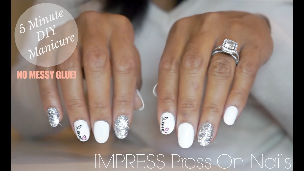 imPRESS Press On Nails - 5 Minute DIY Manicure - No Glue! - YouTube