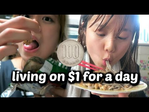 living on 100 Yen a day // a dollar a day Japan edition