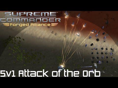 Supreme Commander FAF - 5v1 Attack of the Orb
